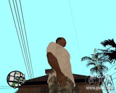 Manos normales CJâ para GTA San Andreas segunda pantalla