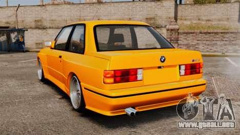 BMW M3 E30 v2.0 para GTA 4 Vista posterior izquierda