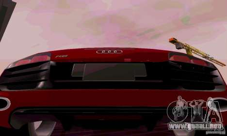 Audi R8 V10 Spyder 5.2. FSI para la visión correcta GTA San Andreas