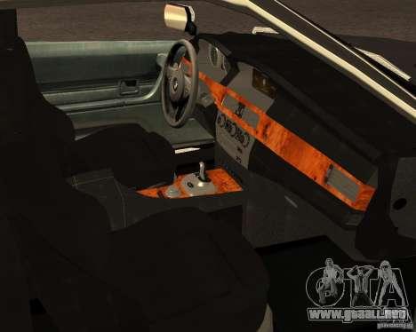 BMW M6 E24 para vista lateral GTA San Andreas