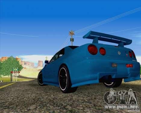 Nissan Skyline R34 Z-Tune V3 para GTA San Andreas left