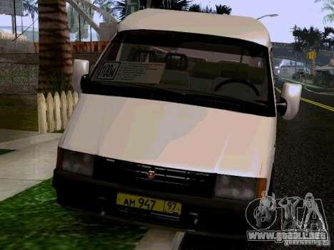 Gacela 32213 1994 para GTA San Andreas vista hacia atrás