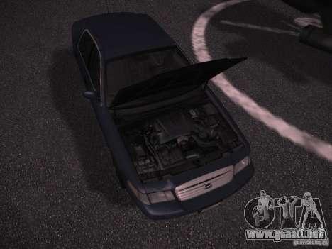 Ford Crown Victoria 2003 para visión interna GTA San Andreas