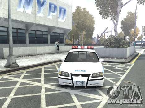 Chevrolet Impala NYCPD POLICE 2003 para GTA 4 vista interior