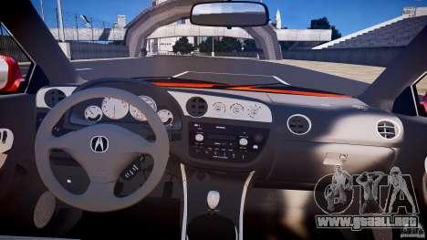 Acura RSX TypeS v1.0 stock para GTA 4 vista superior