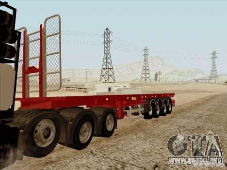 Remolque MAN TGX 8 x 4 para GTA San Andreas vista posterior izquierda