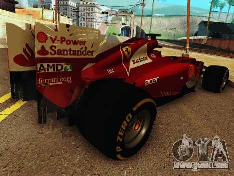 Ferrari F2012 para la visión correcta GTA San Andreas