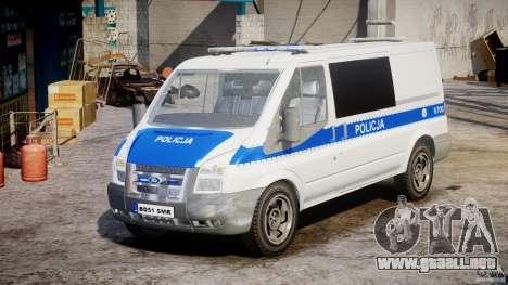 Ford Transit Polish Police [ELS] para GTA 4