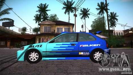 Honda Civic Tuneable para el motor de GTA San Andreas
