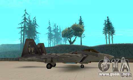 F-22 Starscream para GTA San Andreas left