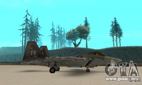 F-22 Starscream para GTA San Andreas left