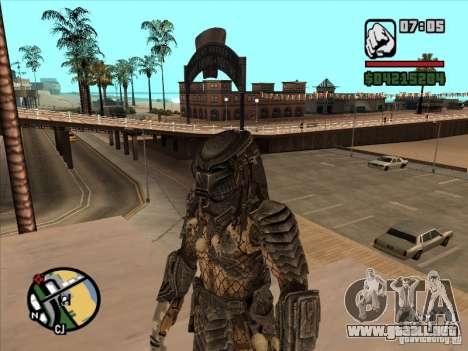 Depredador en el armejca de repuesto para GTA San Andreas segunda pantalla
