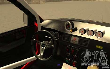 Mitsubishi Lancer Evo IX DiRT2 para vista lateral GTA San Andreas