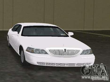 Lincoln Town Car para GTA Vice City vista lateral izquierdo
