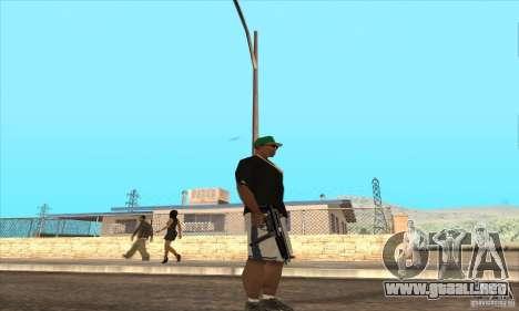 WEAPON BY SWORD para GTA San Andreas sucesivamente de pantalla