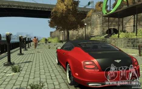 Bentley Continental GT SS para GTA 4 Vista posterior izquierda