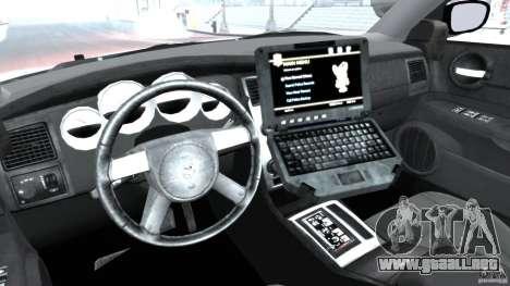 Dodge Charger Japanese Police [ELS] para GTA 4 vista hacia atrás