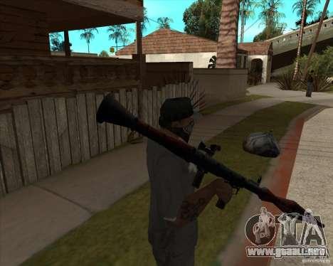 Resident Evil 4 weapon pack para GTA San Andreas sucesivamente de pantalla