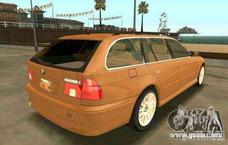 BMW 525 Touring V2 para GTA San Andreas vista posterior izquierda