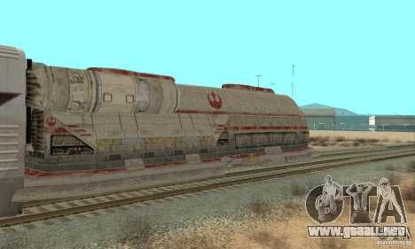 Un buen tren, Star Wars para GTA San Andreas vista posterior izquierda