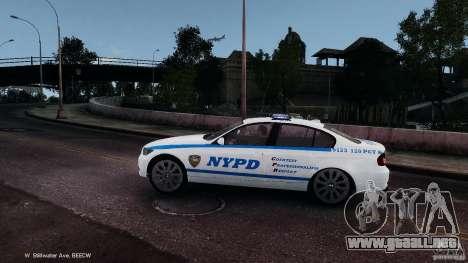 NYPD BMW 350i para GTA 4 left