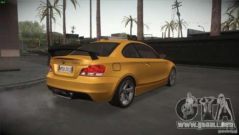 BMW 135i Coupe Road Edition para la visión correcta GTA San Andreas