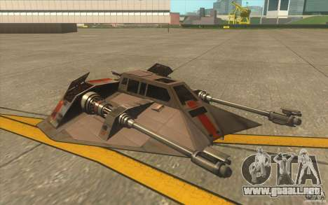 T-47 Snowspeeder para la vista superior GTA San Andreas