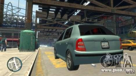 Skoda Fabia para GTA 4 visión correcta