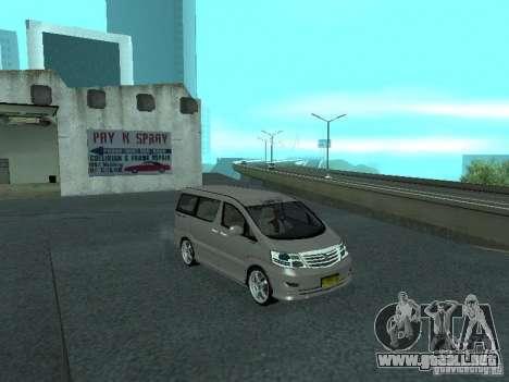 Toyota Alphard G Premium Taxi indonesia para la visión correcta GTA San Andreas