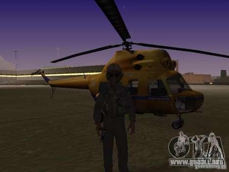 Policía mi-2 para GTA San Andreas vista posterior izquierda