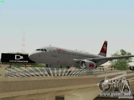 Airbus A319-112 Swiss International Air Lines para visión interna GTA San Andreas