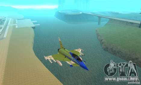 Eurofighter 2010 para visión interna GTA San Andreas