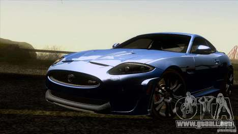 Jaguar XKR-S 2011 V1.0 para vista inferior GTA San Andreas