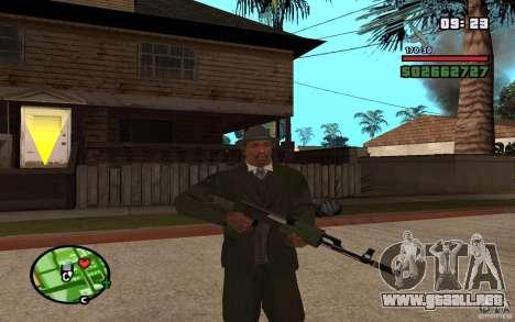 AK-47 con un silenciador de GTA 5 (Final) para GTA San Andreas segunda pantalla