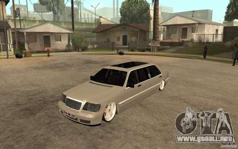 Mercedes-Benz S600 V12 W140 1998 VIP para GTA San Andreas
