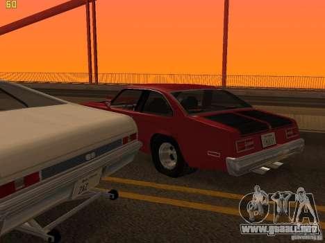 Chevrolet Nova Chucky para la vista superior GTA San Andreas