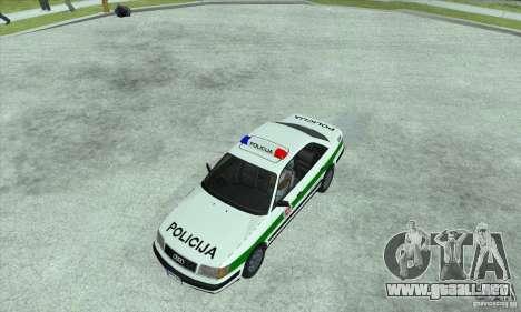 Audi 100 C4 (Cop) para GTA San Andreas vista posterior izquierda