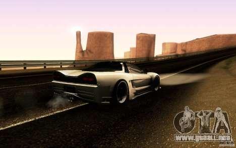 Honda NSX VielSide Cincity Edition para GTA San Andreas vista hacia atrás