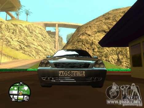 LADA Priora 2172 para visión interna GTA San Andreas