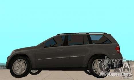 Mercedes-Benz GL500 para GTA San Andreas vista posterior izquierda