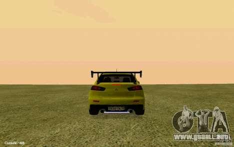 Mitsubishi Lancer Evolution Drift para GTA San Andreas left