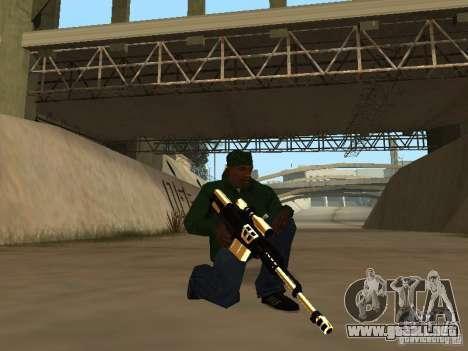 Armas de Pak de oro para GTA San Andreas segunda pantalla