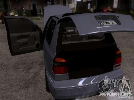 Volkswagen Golf 3 VR6 para visión interna GTA San Andreas
