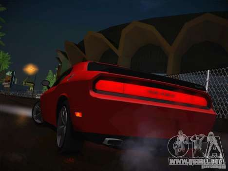 Dodge Challenger SRT8 v1.0 para vista lateral GTA San Andreas