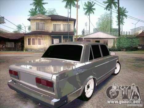 VAZ 2107 Penal para GTA San Andreas vista posterior izquierda