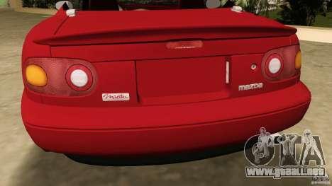 Mazda MX-5 para GTA Vice City vista posterior