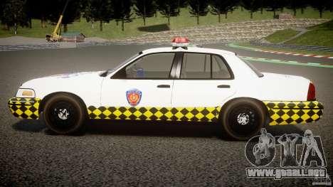 Ford Crown Victoria Karachi Traffic Police para GTA 4 left