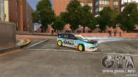 Subaru Impreza WRX STI Rallycross KMC Wheels para GTA 4 visión correcta