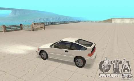 HONDA CRX II 1989-92 para GTA San Andreas vista posterior izquierda