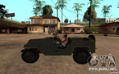 GAZ 67 b para GTA San Andreas left